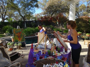 Backyard Painting